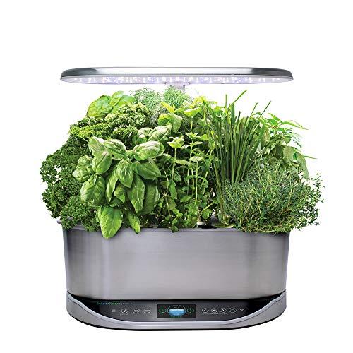 AeroGarden Bounty Elite Indoor Hydroponic Herb Garden, Stainless Steel