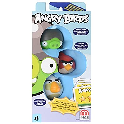 Angry Birds Red Bird, Gray Helmet Pig, White Bird Add-On, 3-Pack