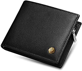 mens wallet with hidden zipper compartment
