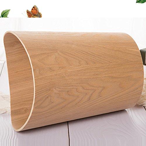 DW&ACCDB Bois Poubelle Matériaux naturels,Simplicité Protection de l'Environnement [Pas de Couverture] Corbeille 10l Décoration Art-D