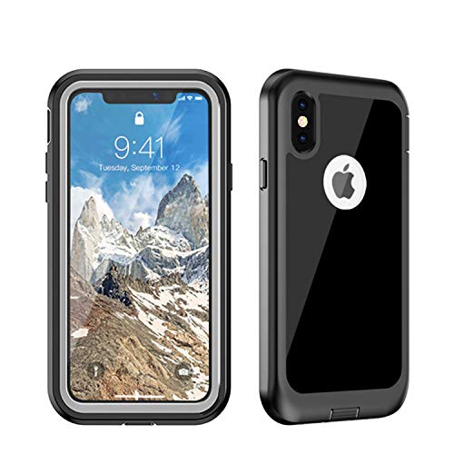 Gorilla Gadgets Full-Body Protection Case Compatible with Samsung Galaxy S10 Plus, Heavy Duty Drop Proof Shockproof Bumper Tough Armor Rugged (Clear-Black)
