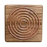 dsnetz Lakhovsky Oszillator 12x12 cm aus Eiche im Geschenkbox | energetisiert Wohnraum | verbreitet Schwingungsfeld | Radiästhesie Tensoren Pendel Ruten | Esoterik Geschenke