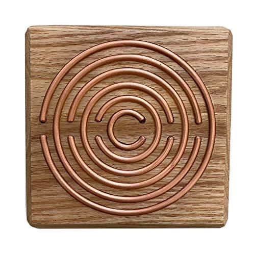 Lakhovsky Oszillator Holz & 1 Aufkleber Blume des Lebens energetisiert Wohnraum verbreitet Schwingungsfeld Radiästhesie Tensoren Pendel Ruten Esoterik