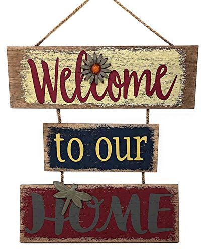 Welcome Home Sign for Wall Front Door Decor Indoor Outdoor 16' x 21'