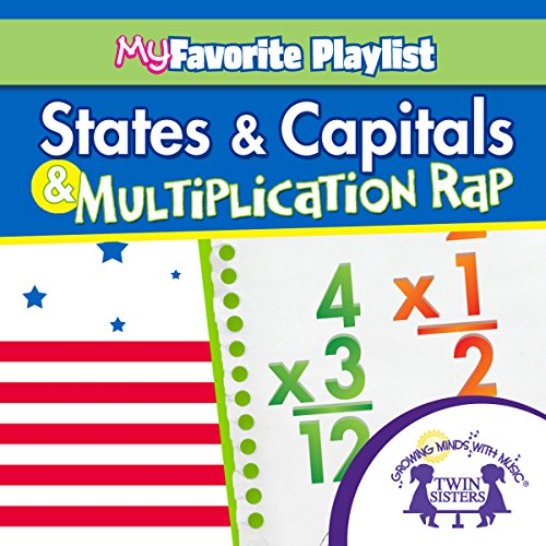 States and Capitals, and Multiplication Rap audiobook cover art