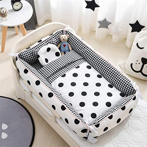 Cuna del bebé animal lindo del colecho portátil hipoalergénico Cuna del bebé Cuna 100% algodón cuna portátil for el dormitorio / Viajes 0-24 Meses 3 Piezas (Color: ZOO, tamaño: 3 piezas) Jialele