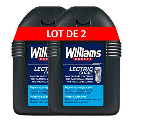 Williams Lectric Shave Loción - 2 Paquete de 100 ml - Total: 200 ml