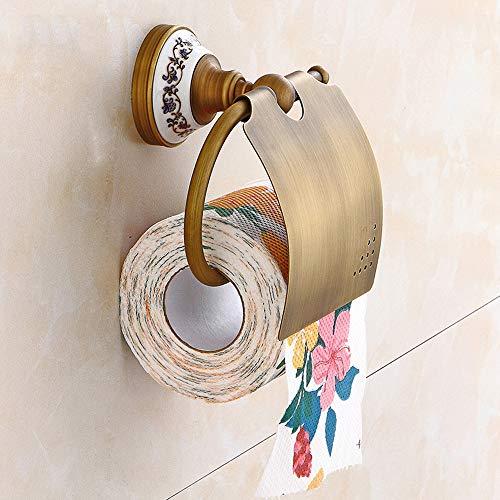 Nfudishpu Porte-Serviettes De Bain Cuivre Européen Européen Rétro Porte-Rouleaux Toilette Étanche Porte-Papier-Toile Modèle Base