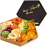 Gourmet Dried Fruit Gift Basket Fresh, Healthy food Snacks for Family, Man and Woman | Assorted Pineapple, Plum, Kiwi, Apple Ring, Papaya, Peaches, for Holiday, Birthday, Christmas, Thanksgiving