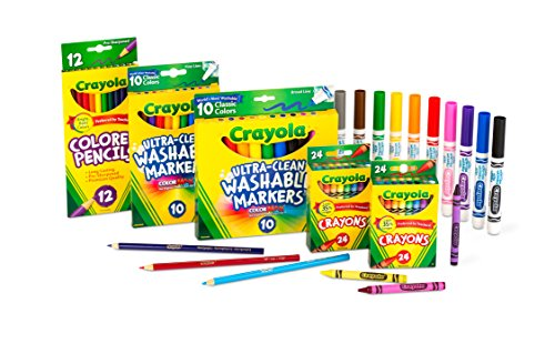 Crayola Back To School Supplies for Girls & Boys, Amazon Exclusive Art Set, 80 Piece