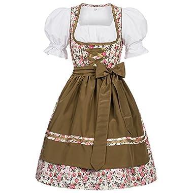 Gaudi-leathers Women's German Dirndl Dress Costumes For Bavarian Oktoberfest Carnival Halloween Josie 38