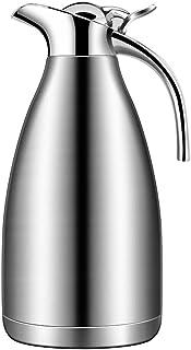 ZCXBHD 保温ポット、ステンレス鋼家庭用高容量真空湯たんぽ旅行ポータブル2L (色 : シルバー しるば゜)