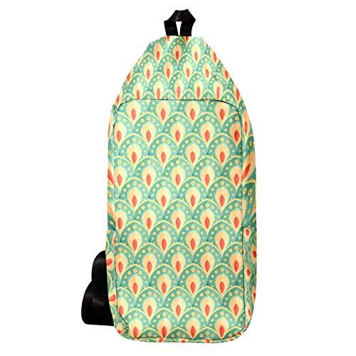 Bolso bandolera casual impermeable para el hombro, mochila cruzada para hombres y mujeres, al aire libre, ciclismo, senderismo, viajes, bicicleta, deportes, verde pavo real