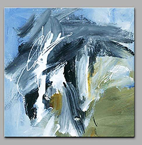 Pinturas Al Pintura Al Óleo Pintado A Mano 100%Pintado A Mano Paisaje Abstracto Pintura Cuchilla Black White Storm Tamaño Grande Casa Moderna Decoración Art Para El Salón Entrada Dormitori