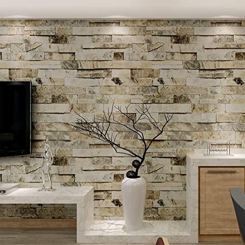 HANMERO Brick Wallpaper Imitation Brick Marble Wall Pattern Looks Real Up...