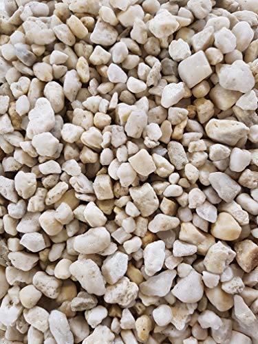 Der Naturstein Garten 25 kg Quarzkies 8-16 mm weiß - Zierkies Quarzsand Splitt Kies Lieferung KOSTENLOS