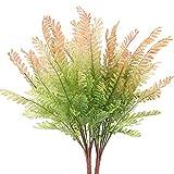 NAHUAA 2 pcs Plantas Artificiales Arbustos Hierba Artificial Verde Planta de Plástico Jarrones Decorativa para Salón Jardín Balcón
