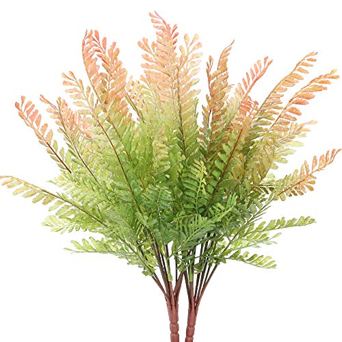 NAHUAA 4Pcs Künstliche Pflanze Antirrhinum Zimmerpflanze Deko Pflanze für Balkon Flur Zimmer Büro Party Dekoration Garten Rot Grün