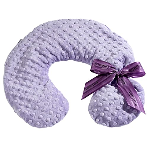 Sonoma Lavender Luxury Lavender Neck Pillow, Microwaveable Heating Pad for Neck and Shoulders, Great for Relaxation and Pain Relief, Lilac Dots