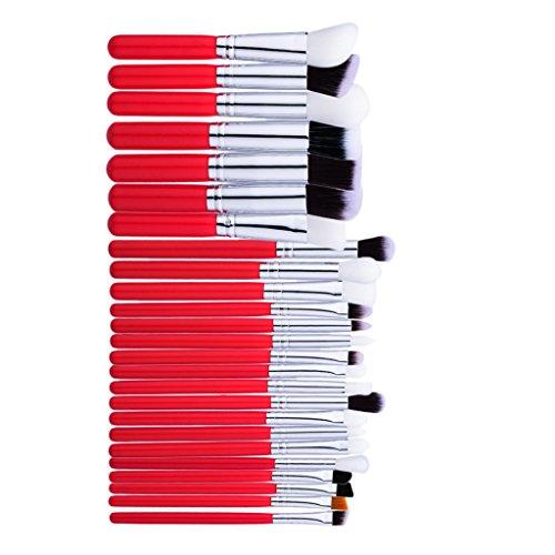 Toygogo 25pcs Maquillage Professionnel Pinceaux Kit Fond De Teint Pour Le Visage Yeux Fard à Paupières Kabuki Mélange Pinceau Pincement Ensemble Poudre Correc