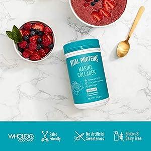 Vital Proteins Marine Collagen Peptides Powder Supplement, 12g per Serving, Wild Caught Non GMO, Hydrolyzed Collagen, Dairy&Gluten Free - 221g Canister
