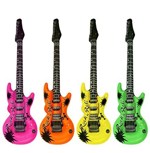 1 x Gonflable Guitar Rock pour Les Parties. Nouveauté (1 x Couleur Assorties) [Jouet]