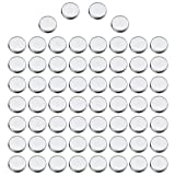 60 Pack Empty Round Metal Pans Palette, Vodisa 26 mm Cosmetic Eyeshadow Blush Lipstick Organizer for Magnetic Makeup Palette (Round Pans)