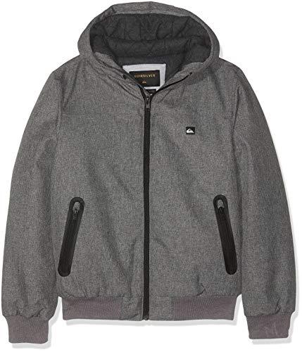 Quiksilver Jungen Brooks 5k Jacke, Grau (Light Grey Heather SJSH), 12 Jahre (Herstellergröße: M/12)