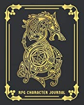 RPG Character Journal: DnD DM Notebook With 50 Character Sheets and 100 Mixed Pages (Lined, Graph, Hex & Blank)For Role Playing Fantasy Games Campaign ... Track 5e Gameplay, Plans, Spells & More