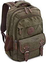 Laptop Backpack for School Hiking Work Cotton w/ 15.6 in Sleeve | Durable & Dependable