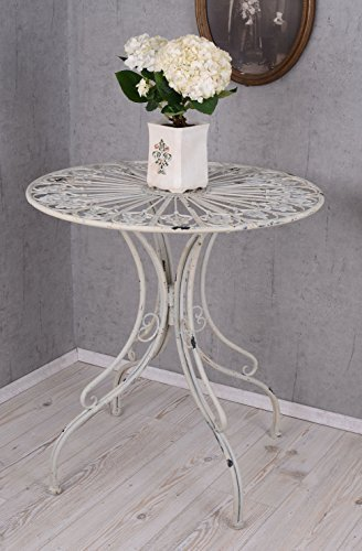 PALAZZO INT Gartentisch Shabby Chic Romantik Eisentisch Beistelltisch Tisch Eisen
