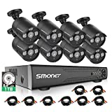 【16CH Expandable】 SMONET Surveillance Camera Systems,5-in-1