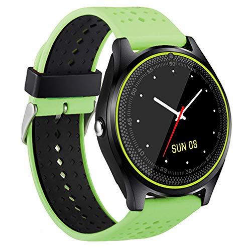 BINDEN Smartwatch V9 Resistente al Agua IP54 con Medidor de Ritmo Cardiaco, Ranura para SIM y Micro SD…