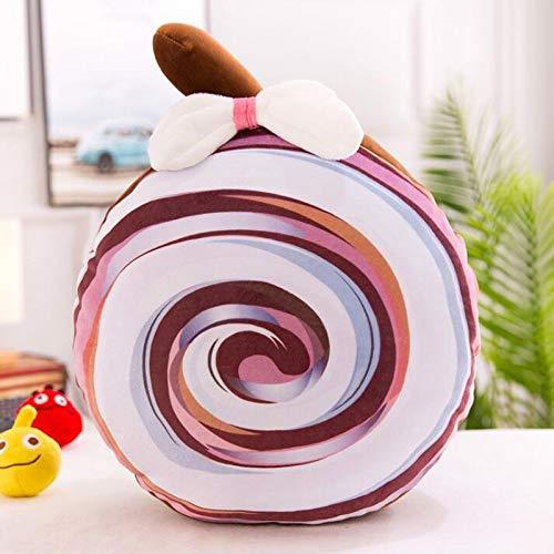 Handwärmer Kreative nette Lollipop Plüsch-Spielzeug füllte Puppe Warm Hand Kissen Lollipop Plüschtier Insert Kissen Kind-Mädchen-Geburtstags-Geschenk (Color : Brown)