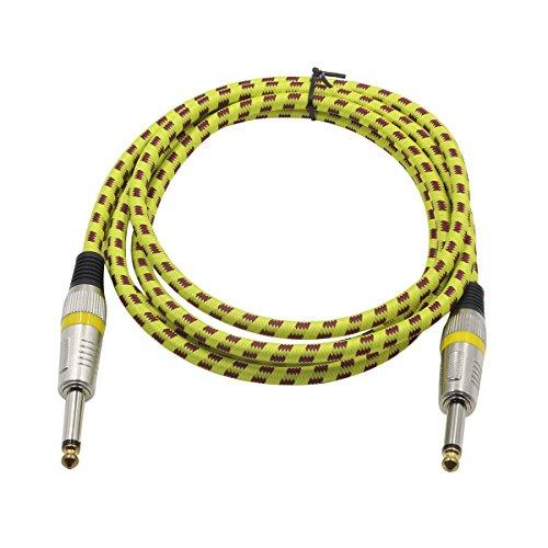 ROSENICE Cable de guitarra 3M recto profesional sin ruido instrumento cable para...