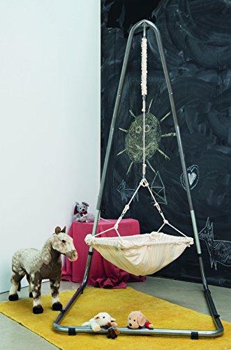 AMAZONAS Formschönes Hängesesselgestell aus Stahl Luna RockStone höhenverstellbar für Wohnzimmer und Garten 120 x 200-240 x 145 cm bis 120 kg - 9