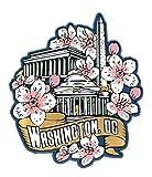 Washington D.C. Monuments with Cherry Blossoms Fridge Magnet