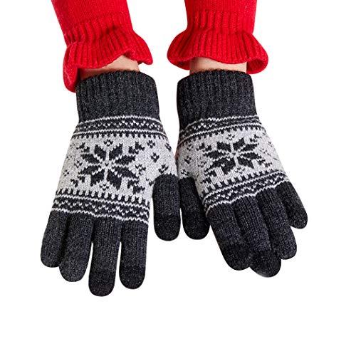 VENI MASEE Kinder Handschuhe Kleinkind Winter Schnee stricken Touchscreen Mädchen kaltes Wetter Handschuhe