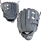 NOKONA AmericanKip Gray H-Web 12 Inch A-1200H-GR PU Fastpitch Softball Glove (Purple Lacing)