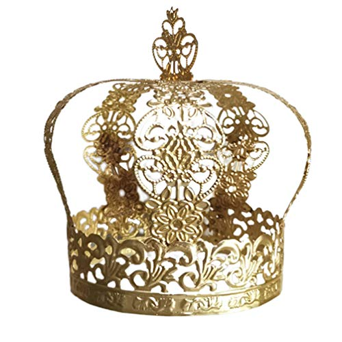 Angoily Topper de La Torta de La Corona de La Vendimia Pequeo Pastel de Bodas Corona Superior de La Corona de La Princesa Adorno para El Cabello Decoracin de La Torta de Cumpleaos