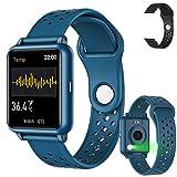 Amzatek Smartwatch Pulsera Inteligente, Reloj Deportivo Inteligente Detección de Temperatura Corpora 1.3in,Pulsera Reloj Inteligente IP67