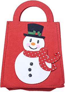 Willsa Cute Exquisite Christmas Candy Candy Bag Apple Bag Felt Cloth Xmas Party Home Decoration