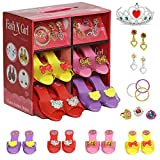 fash n kolor Princess Dress Up and Play Shoe and Jewelry Boutique with Fashion Accessories for Girls Dress Up, Age 3-10 yrs Old