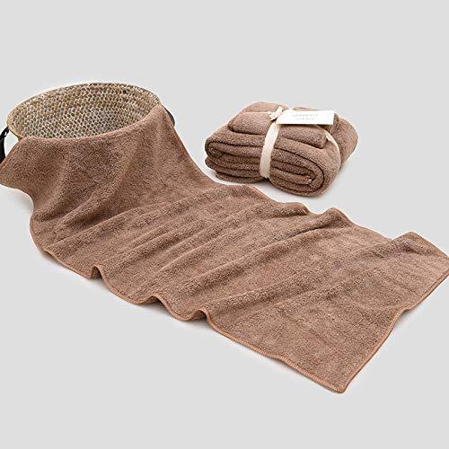 nohbi Toallas de baño 100% algodón Suave,Juego de Toallas Suaves de Microfibra, Juego de Toallas de baño Gruesas de Cuatro, marrón,Comodidades 100% algodón Natural