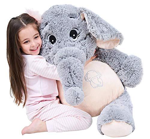 IKASA Giant Elephant Stuffed Animal Plush Toys Gifts (Gray, 39 inches)