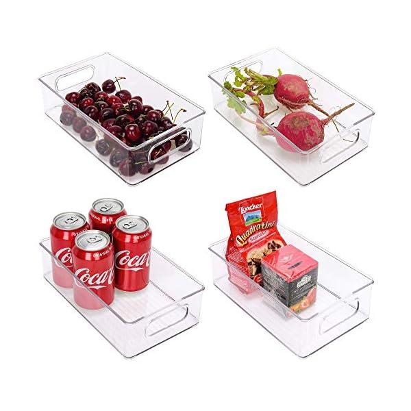 StorageWorks Stackable Refrigerator Organizer Bins with Handles