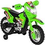 Best Choice Products 6V Kids Electric Battery Powered Ride On Motorcycle w/ Training Wheels, Lights, Music-...