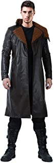 Men's Officer K Jacket Cosplay Costume Faux Shearling Trench Coat