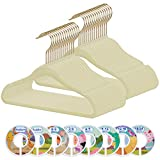 Kids Hangers - Himetsuya 50 Pack Baby Velvet Hangers With 8 Pcs Baby Clothes Size Dividers, Ultra Thin Baby Hangers Non Slip Velvet Kids Coat Hanger, Space Saving Pants Hangers For Kids Clothes(Ivory)