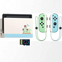Nintendo Switch Console Animal Crossing : New Horizons Edition 32GB Memory Card and 256G SD Card Grass Green and Sea Blue ...